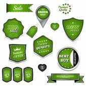 Set of vector sale labels and icons