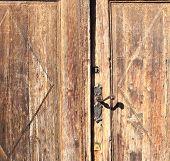 Old Wooden Door Detail