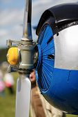 picture of rotor plane  - Propeller aircraft closeup - JPG