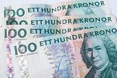 Banknotes Hundred Swedish Krona