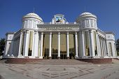 Ashgabad, Turkmenistan - October 10, 2014.  Turkmen State Drama Theatre Named After Magtymguly