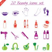 Beauty And Makeup Icons (set 2)