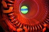 Power generator steam turbine during repair, machinery