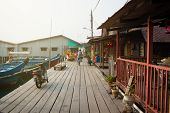 Malaysia, Penang, Georgetown - Circa Jul 2014: This Boardwalk Along Chew Jetty Serves As The Main Ac