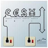 Money Currencyelectric Line Business Infographic