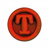 Grunge Font - Letter T