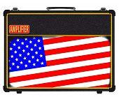 USA Flag Rock Amplifier
