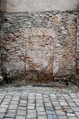 Bricked Up Doorway In A Stone Wall