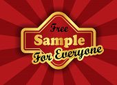 Free Sample  Label In Retro Style