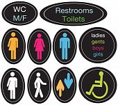 picture of intersex  - A set of editable vector restroom signs - JPG