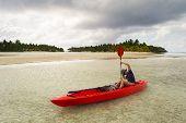 Canoeing In Aitutaki Lagoon