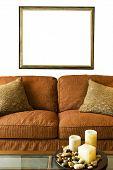 Blank Frame Over Sofa