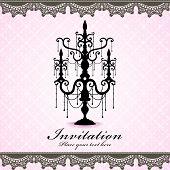 Vintage chandelier poster design