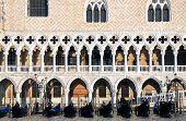 Venice Doge's Palace And Gondolas