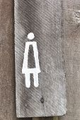 Signs Symbolize The Female Toilet.