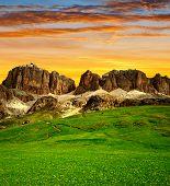 Dolomite peaks,Sella
