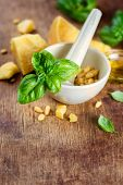Italian food, ingredients for pesto