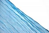 Corner Blue Aqua Water Wavy Fabric Textured Background