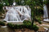 Jungle Falls At Agua Azul, Chiapas Near Palenque. Traveling Mexico.