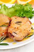 Grilled Pork Steak With Orange Sauce
