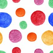 Bright watercolor spots seamless pattern