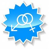 Sex blue icon