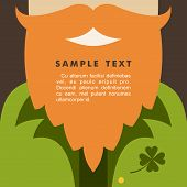 St. Patricks Day Card Design. Vintage Holiday Badge Design. Leprechaun