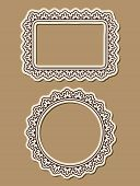 Two Ornate Paper Frames