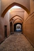 Narrow street of Yazd old town