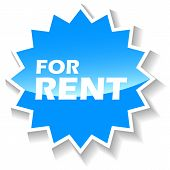 For rent blue icon