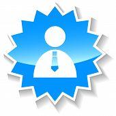 Businessman blue icon
