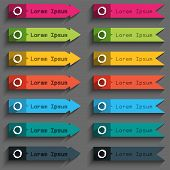 Number Zero Icon Sign. Set Of Colored Buttons.