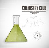 pic of discipline  - chemistry club scientific background vector eps 10 - JPG