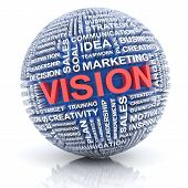 Business vision concept, 3d render