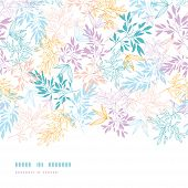 Colorful pastel branches horizontal seamless pattern background
