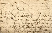 pic of handwriting  - Vintage handwriting with latin text - JPG