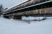 Covered Bridge In The Winter