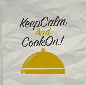 Cooking poster with tray