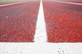 picture of track field  - Running track (Running track rubber with line )