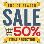 End Of Season Sale Vintage.