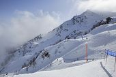 foto of rosa  - Mountain skitrack on the slope of Caucasus Mountains - JPG