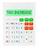 Calculator With Tax Increase