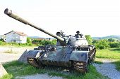 pic of panzer  - view of Old tanks stand near museum - JPG
