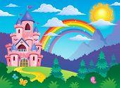 foto of castle  - Pink castle theme image 4  - JPG