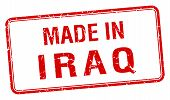 image of iraq  - made in Iraq red square isolated stamp - JPG