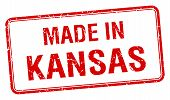 foto of kansas  - made in Kansas red square isolated stamp - JPG