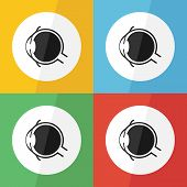 picture of  eyes  - Eye icon  - JPG