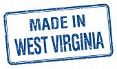 pic of virginia  - made in West Virginia blue square isolated stamp - JPG