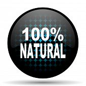 picture of 100 percent  - natural icon 100 percent natural sign