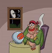stock photo of fortune-teller  - LONDON - JPG